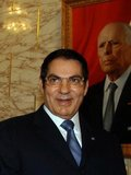 Zine El Abidine Ben Ali (born 3 September 1936) was the second President of the Tunisian Republic. He held the office from 7 November 1987, until he was forced to step down and flee the country on 14 January 2011. Ben Ali was appointed Prime Minister in October 1987, and assumed the Presidency in November 1987 in a bloodless coup d'état from then President Habib Bourguiba, who was declared incompetent. Ben Ali was subsequently re-elected with enormous majorities at every election, the final time being 25 October 2009. Following the Tunisian Revolution, he fled to Saudi Arabia.