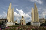 Thailand's Democracy Monument was commissioned in 1939 to commemorate the 1932 Siamese coup d'état which led to the establishment of a constitutional monarchy in what was then the Kingdom of Siam, by its military ruler, Field Marshal Plaek Pibulsonggram.
